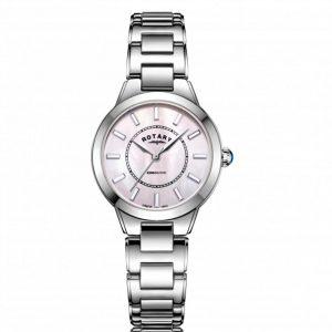 Rotary LB05375/07 Women's Kensington Pink MOP Dial Medium Watch