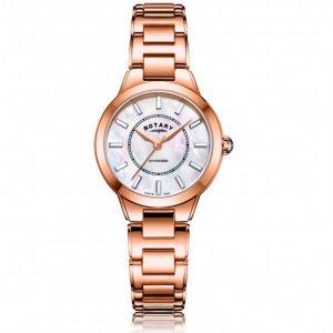 Rotary LB05379/41 Women's Kensington Rose Gold MOP Dial Medium Watch