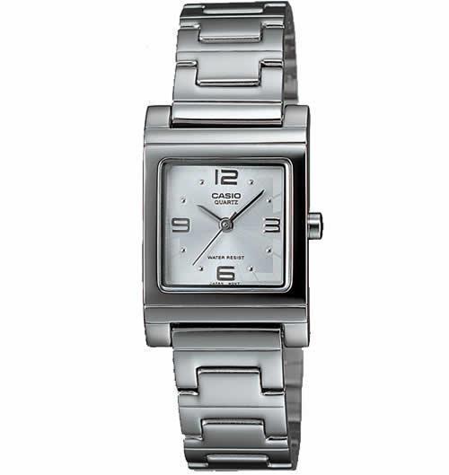 Casio LTP1237D-7A Women's Silver-Tone Analog Bracelet Small Size Watch