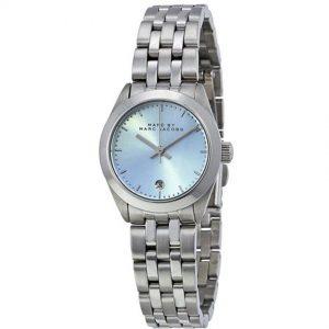 Marc Jacobs MBM3376 Women's Peeker Silver Blue Dial Stainless Steel Small Watch
