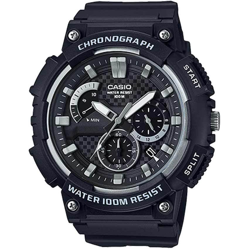 Casio MCW200H-1AV Men's Retrograde Chronograph Black Resin Large Watch