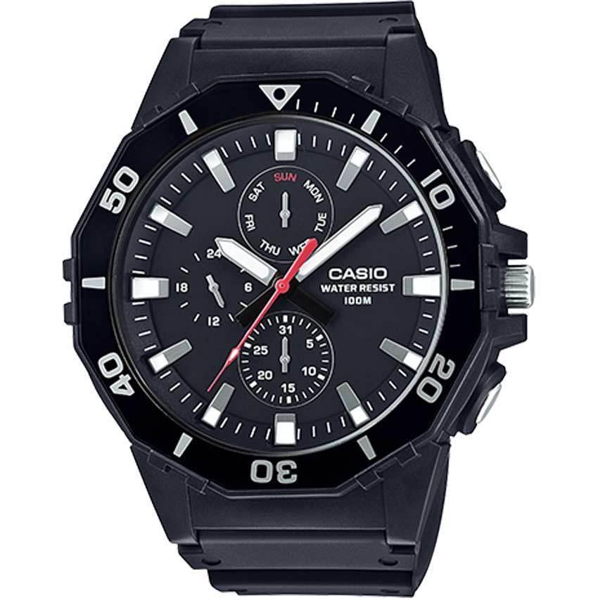 Casio MRW400H-1AV Men's Multifunction Black Resin Band Sports XL Watch