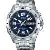 Casio MTD1082D-2AV Men's Super Illuminator Analog Quartz Silver Stainless Steel Watch