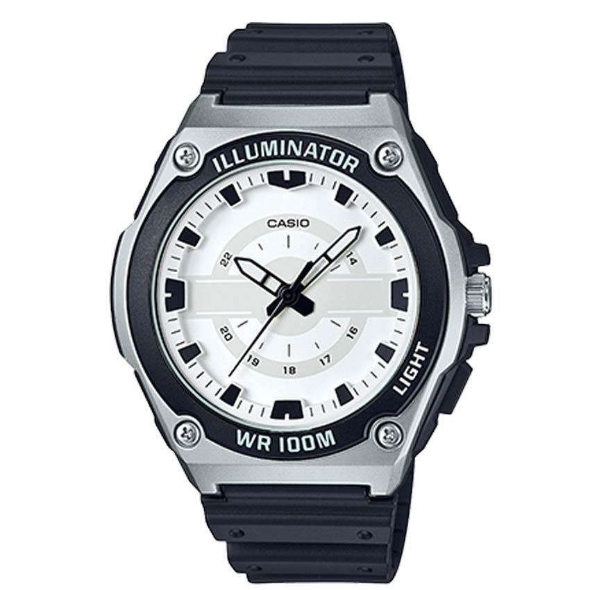 Casio MWC100H-7AV Men's Illuminator Analog Quartz White Dial Watch