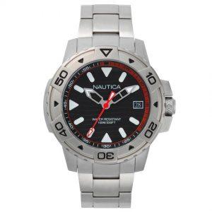 Nautica NAPEGT005 Men's Edgewater Stainless Steel Link Watch