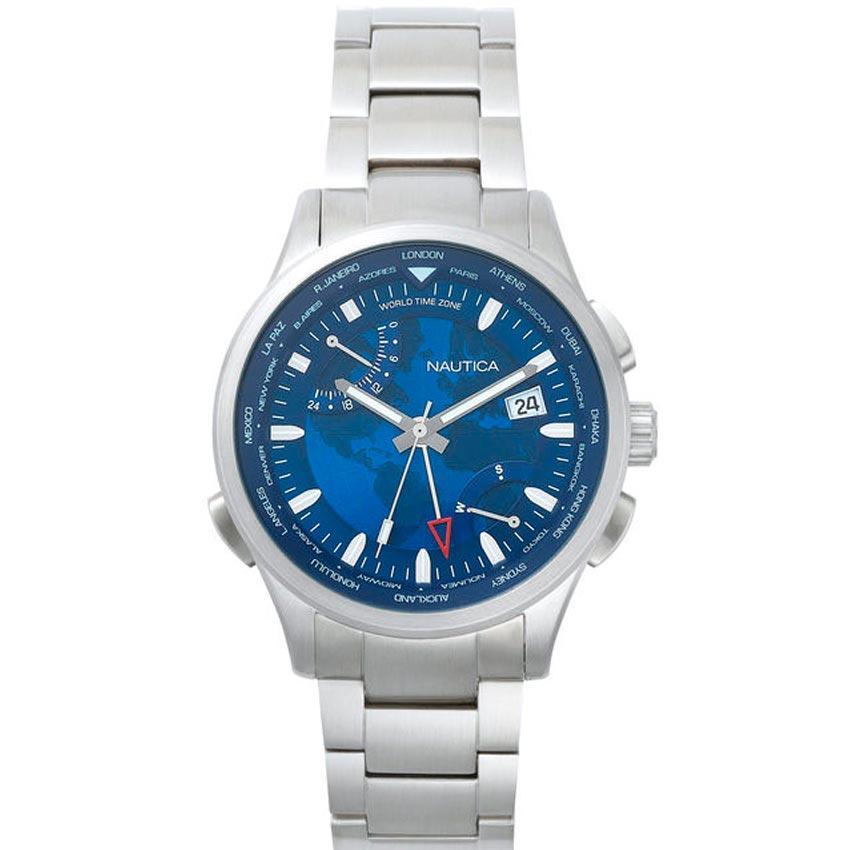 Nautica NAPSHG003 Men's Shanghai Stainless Steel Bracelet Watch