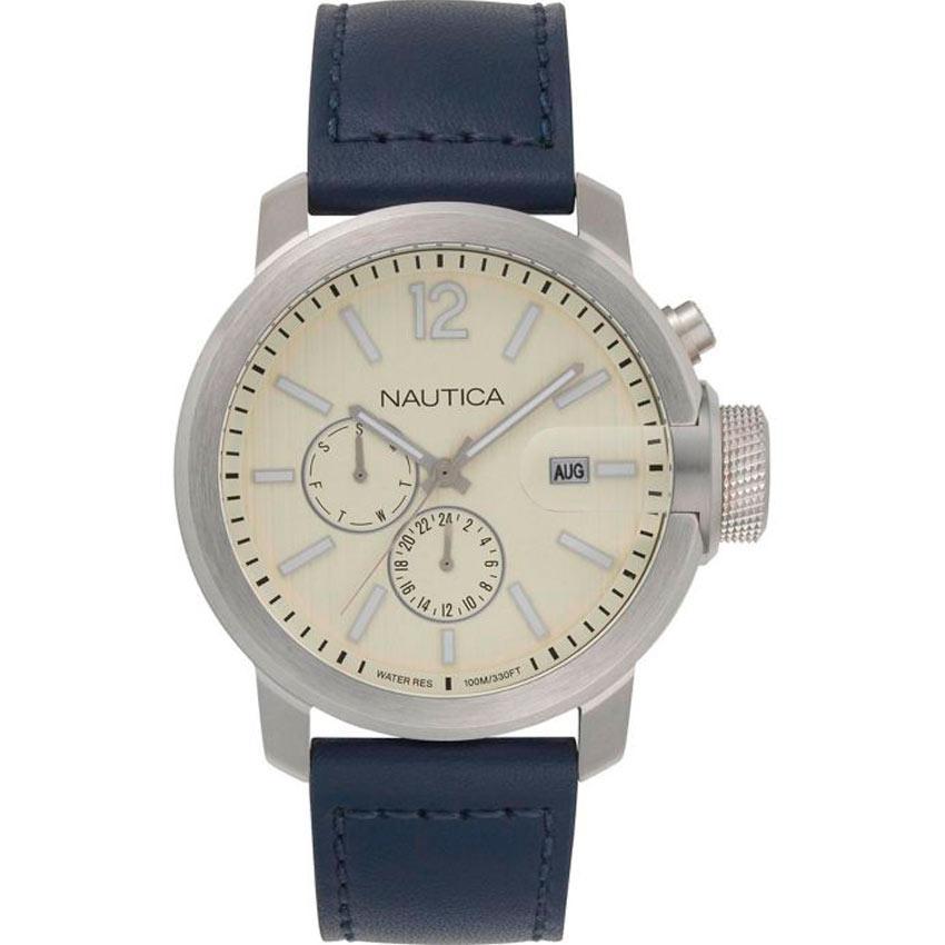 Nautica NAPSYD014 Men's Sydney Chronograph Blue Leather Watch