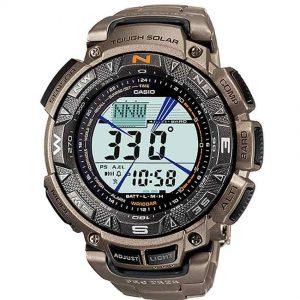 Casio Gent's PRG-240T-7SDR Protrek Triple Sensor Titanium Band Watch