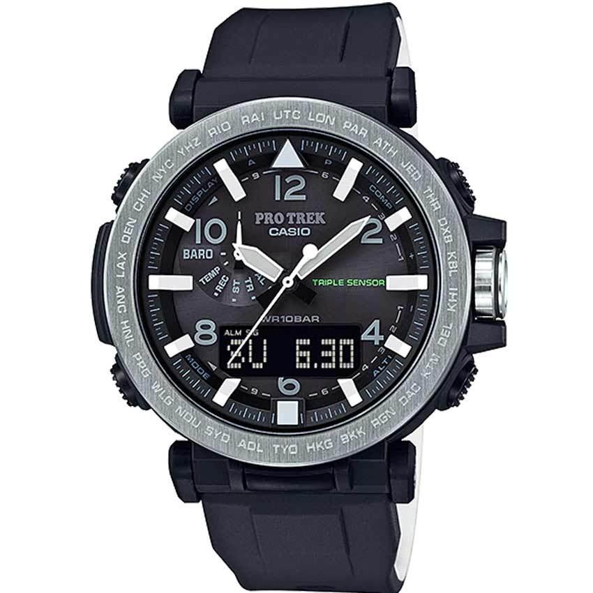 Casio Gent's PRG-650-1DR Protrek Safari Silicon Band Watch