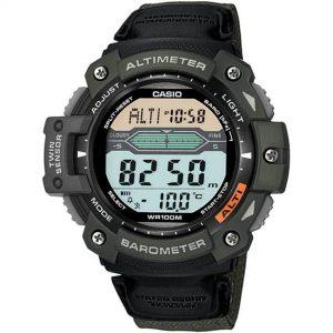 Casio SGW300HB-3AV Men's Sport Gear Twin Sensor Green Nylon Band Large Watch
