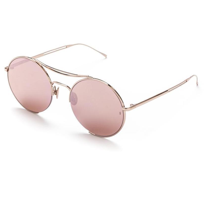 Sunday Somewhere Goldie Rosff Unisex Rose Gold Sunglasses