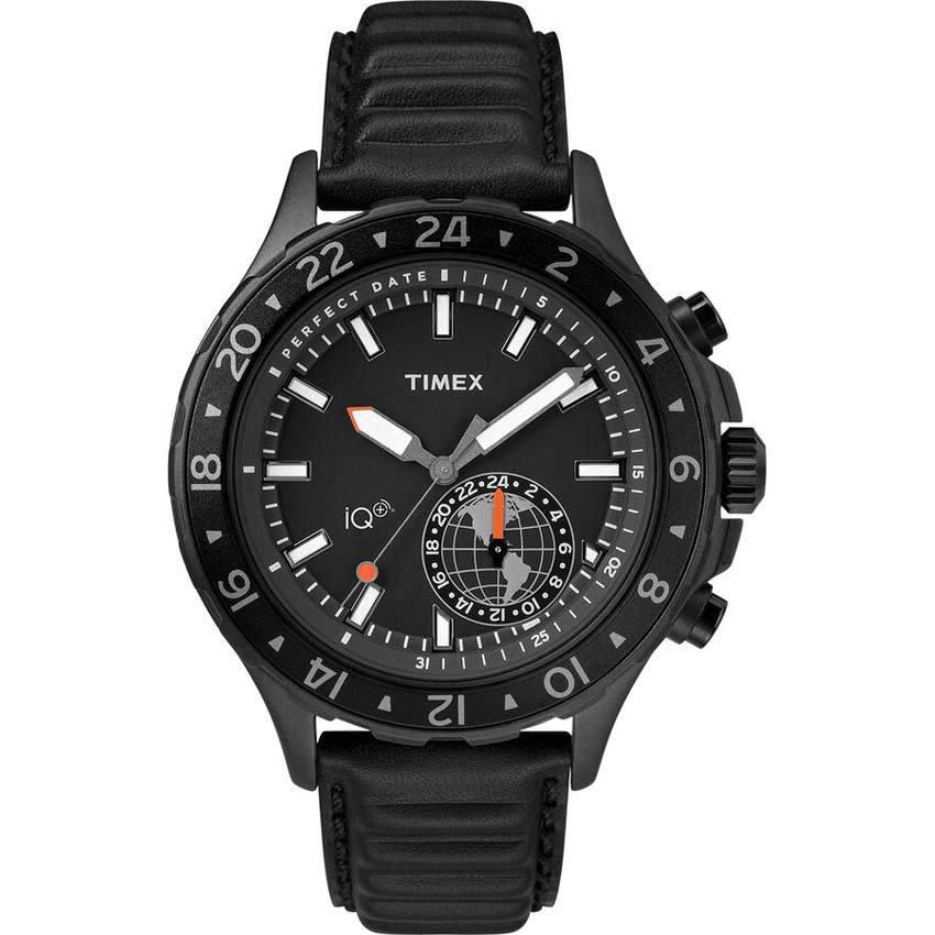 Timex T2R399 Intelligent Quartz + Move Multi-Time Leather Smart Watch