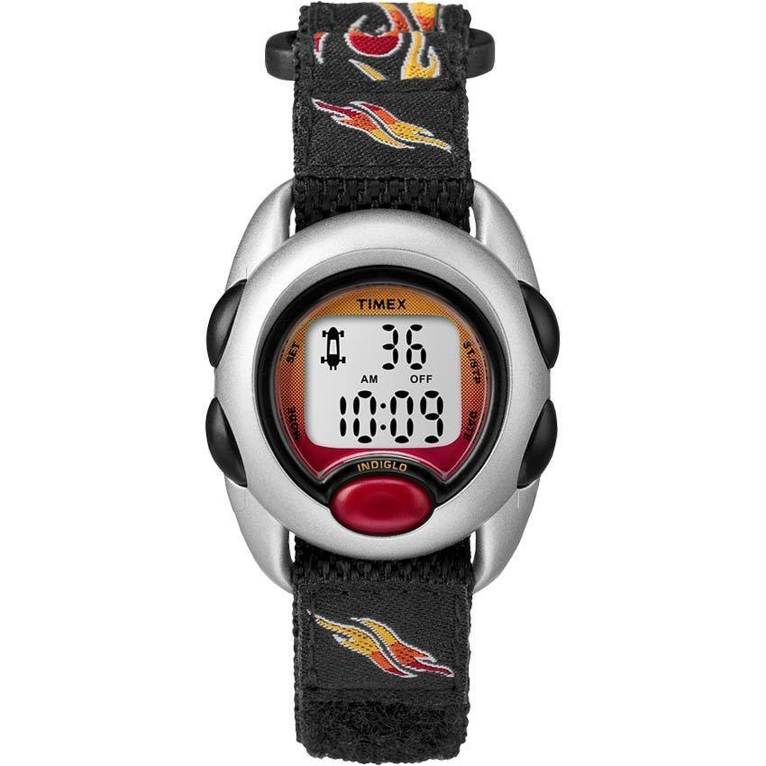 Timex T78751 Kids Time Machines Flames Digital Fabric Strap Watch
