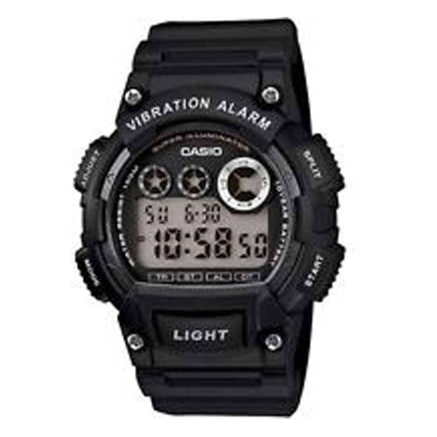 Casio W735H-1AV Men's Digital Dial Black Resin Watch