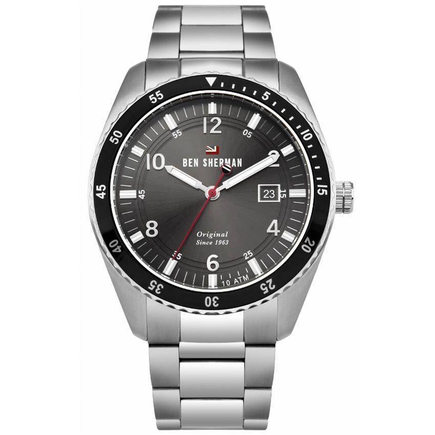 Ben Sherman WBS107BSM Men's The Ronnie Sports Silver Bracelet Watch