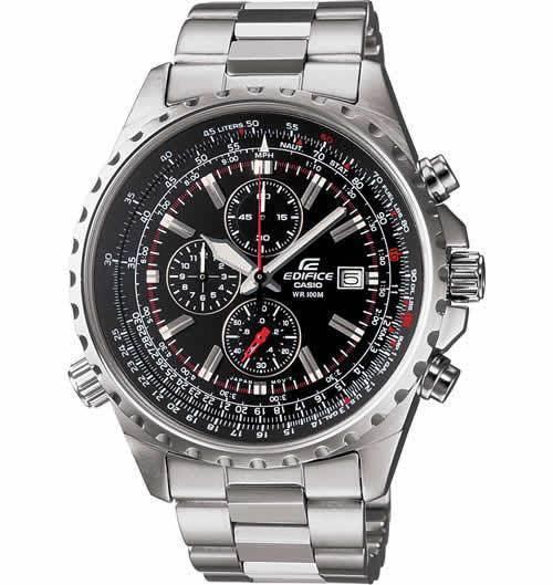 Casio EF527D-1AV Men's Edifice Silver Bracelet Watch